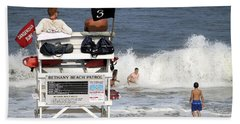 Rough Water At Bethany Beach In Delaware  Beach Towel