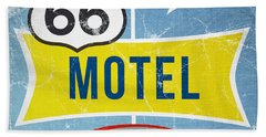 Route 66 Motel Beach Towel