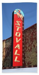 Route 66 - Stovall Theater Beach Sheet by Frank Romeo