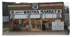 Route 66 - Wrink's Market Beach Sheet by Frank Romeo