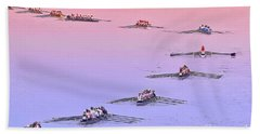 Rowers Arc Beach Towel by Gary Holmes