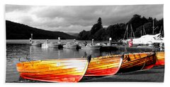 Rowing Boats Ready For Work Beach Sheet