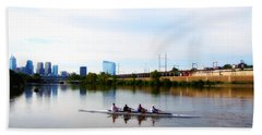 Rowing In Philadelphia Beach Towel