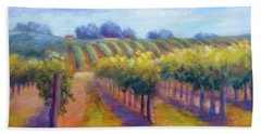 Rows Of Vines Beach Towel