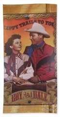 Roy And Dale Beach Towel by Donna Brown