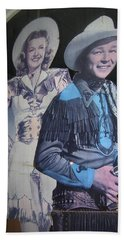 Roy Rogers And Dale Evans #2 Cut-outs Tombstone Arizona 2004 Beach Sheet by David Lee Guss