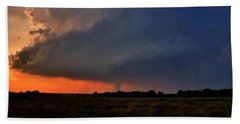 Beach Towel featuring the photograph Rozel Tornado by Ed Sweeney