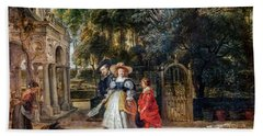 Rubens In His Garden With Helena Fourment Beach Towel