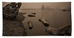 Ruby Beach Fog Beach Towel