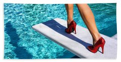 Ruby Heels Ready For Take-off Palm Springs Beach Towel