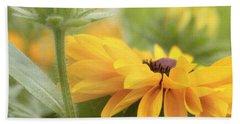 Rudbeckia Flower Beach Sheet