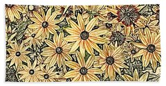 Beach Towel featuring the photograph Rudbeckia - Rudbeckie by Nature and Wildlife Photography