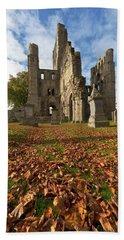Ruins Of Roxburgh Castle Near Kelso Beach Towel
