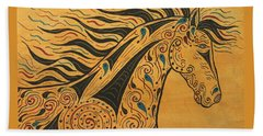 Runs With The Wind Beach Towel by Susie WEBER