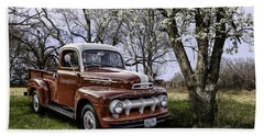 Rural 1952 Ford Pickup Beach Towel
