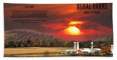 Beach Towel featuring the photograph Rural Barns  My Book Cover by Randall Branham