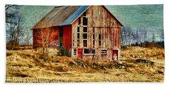 Rural Rustic Vermont Scene Beach Sheet by Deborah Benoit