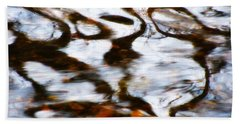Beach Towel featuring the photograph Rushing Water by Deborah  Crew-Johnson