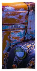 Rusrty Old Dodge Truck Beach Towel