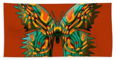 Russetfly Butterfly Beach Towel