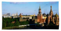 Russia, Moscow, Red Square Beach Sheet by Panoramic Images