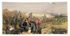 Russian Rifle Pit , Plate From The Seat Beach Towel