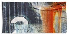 Beach Towel featuring the photograph Rusted Waterfall by Jani Freimann