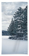 Rustic Cabin On The Pond Beach Towel