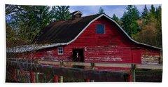 Beach Towel featuring the photograph Rustic Old Horse Barn by Jordan Blackstone