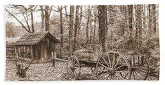 Rustic Wagon Beach Sheet by Debbie Green