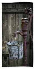 Rusty Hand Water Pump Beach Towel