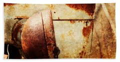 Rusty Headlamp Beach Towel