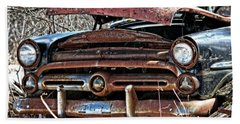 Rusty Old Car Beach Sheet