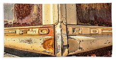 Rusty Old Ford Beach Towel