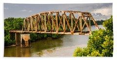 Rusty Old Railroad Bridge Beach Towel by Sue Smith