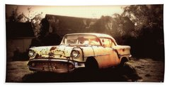 Rusty Oldsmobile Beach Towel