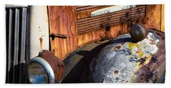Rusty Truck Detail Beach Towel by Garry Gay