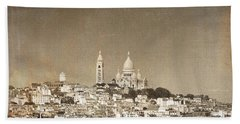 Sacre Coeur Basilica Of Montmartre In Paris Beach Sheet