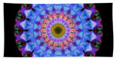 Sacred Crown - Mandala Art By Sharon Cummings Beach Sheet by Sharon Cummings