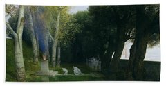 Sacred Grove, 1886 Oil On Panel Beach Towel
