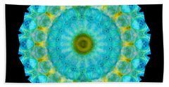Sacred Voice - Mandala Art By Sharon Cummings Beach Towel