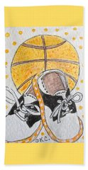 Saddle Oxfords And Basketball Beach Sheet by Kathy Marrs Chandler