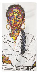 Beach Towel featuring the painting Abstract Sade  by Stormm Bradshaw