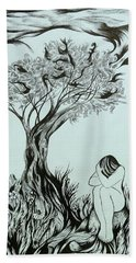 Sadness Beach Towel by Anna  Duyunova
