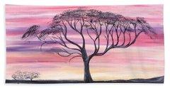 Safari Sunset  Beach Towel