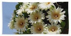 Saguaro Flower Cluster Beach Towel by Tom Janca