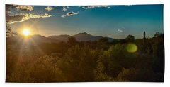 Beach Towel featuring the photograph Saguaro National Park by Dan McManus