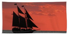 Key West Sunset Sail 5 Beach Towel