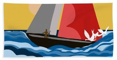 Sail Day Beach Towel by Christine Fournier