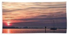 Sailboat At Dawn Beach Sheet